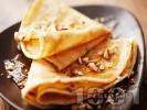 Рецепта Палачинки с кисело мляко, мед и орехи
